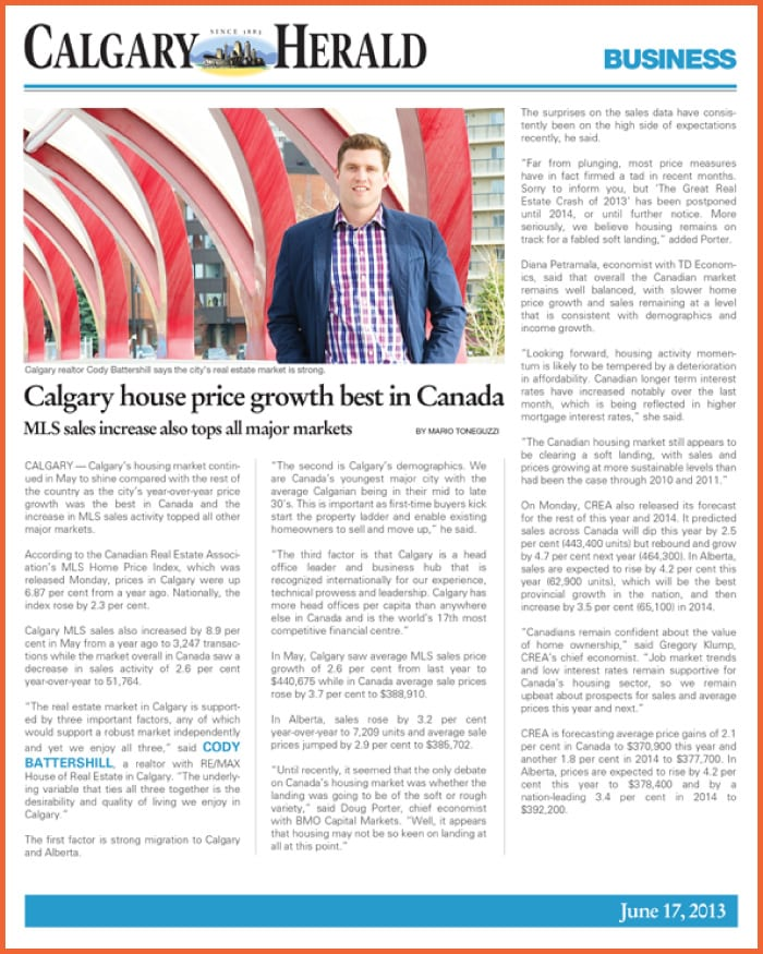 Cody Battershill REMAX Calgary Realtor