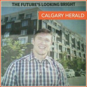 Remax Calgary Realtor Cody Battershill in Herald