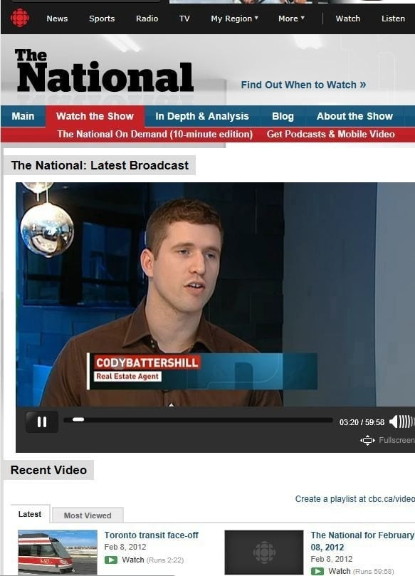 Cody Battershill on the CBC National