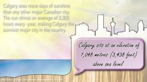 Calgary Elevation and Sunshine