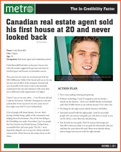 Remax Calgary Realtor Cody Battershill in Metro