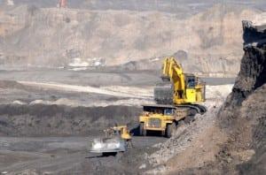 Oil sands mining field
