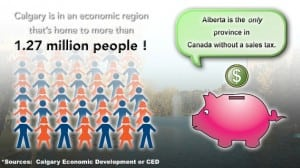 Calgary population and tax