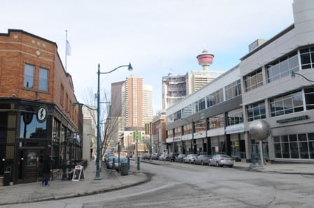 Victoria Park and 1st Street in downtown Calgary