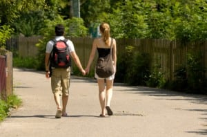 Walking in Calgary on a date