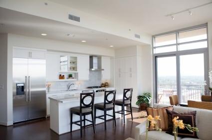 cuisine ouverte sur le salon separation cuisine americaine et salon idees agencement petite - Separation Cuisine Americaine Et Salon
