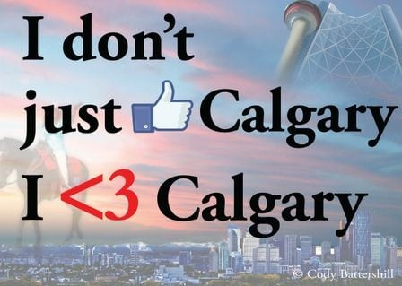 I Love Calgary YYC Graphic
