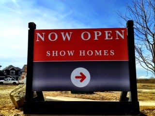 Show Homes Sign New Calgary Homes