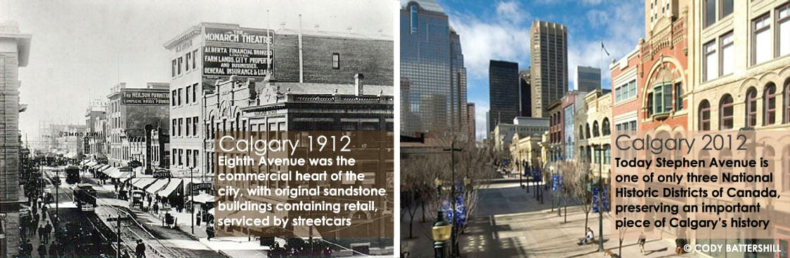 Calgary Then and Now 1912 - 2012