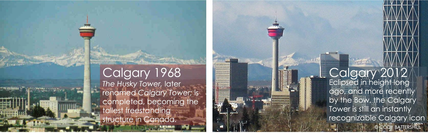 History of Calgary Then and Now 1968