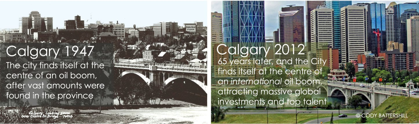 History of Calgary Then and Now 1947