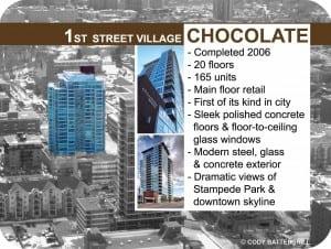 Chocolate condos in Victoria Park Calgary