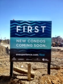 FIRST condos construction site East Village Calgary