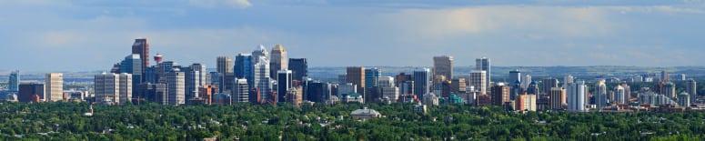 Inner City Skyline Calgary Alberta