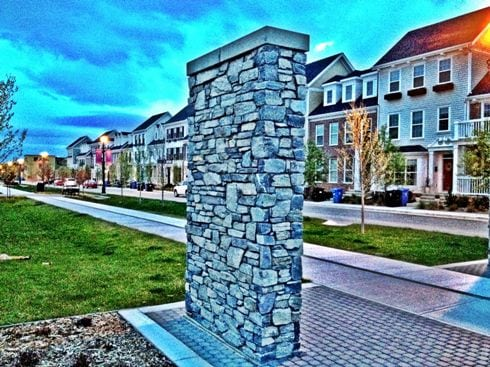 Currie Barracks Streetscape in Calgary