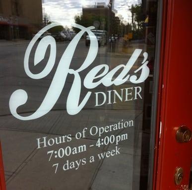 Reds Diner Calgary Door