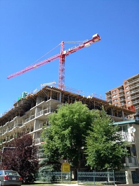 Condo Crane in Calgary