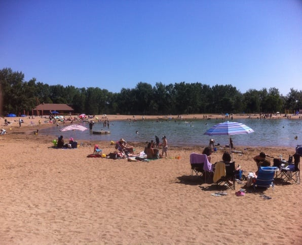Sikome Lake Beach in Calgary