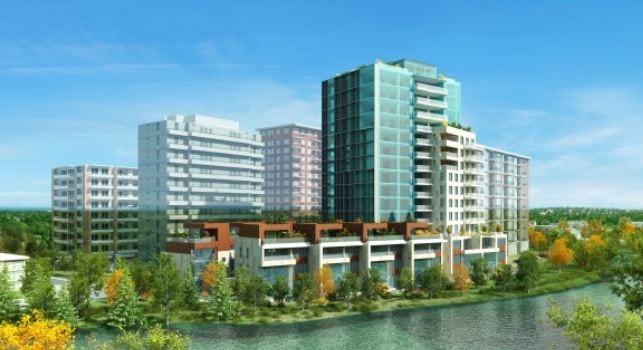 The River Luxury Condos in Mission Calgary