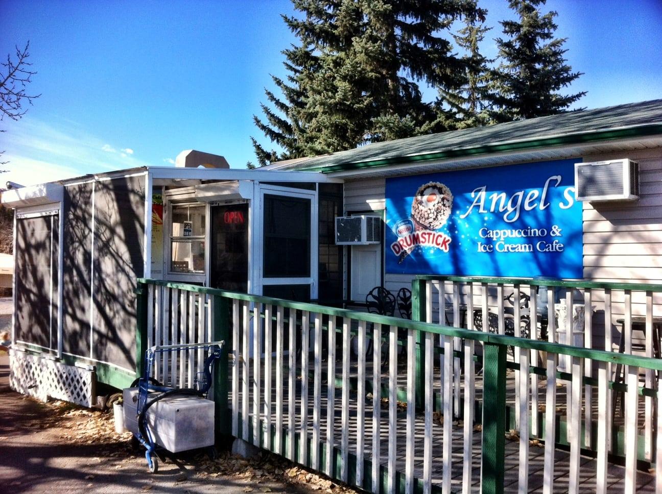 Angels Cappucino and Ice Cream Calgary Restaurant exterior