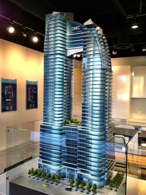 3 Eau Claire New Downtown Calgary CondosNew Downtown Calgary Condo Model in Calgary Alberta