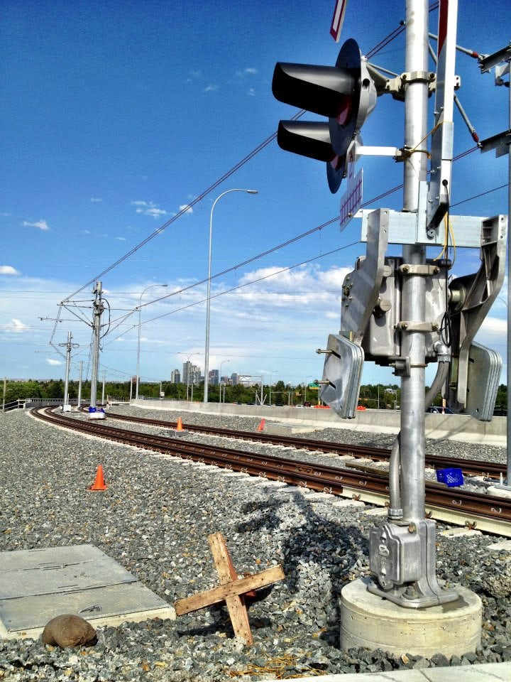 New west LRT line in Calgary