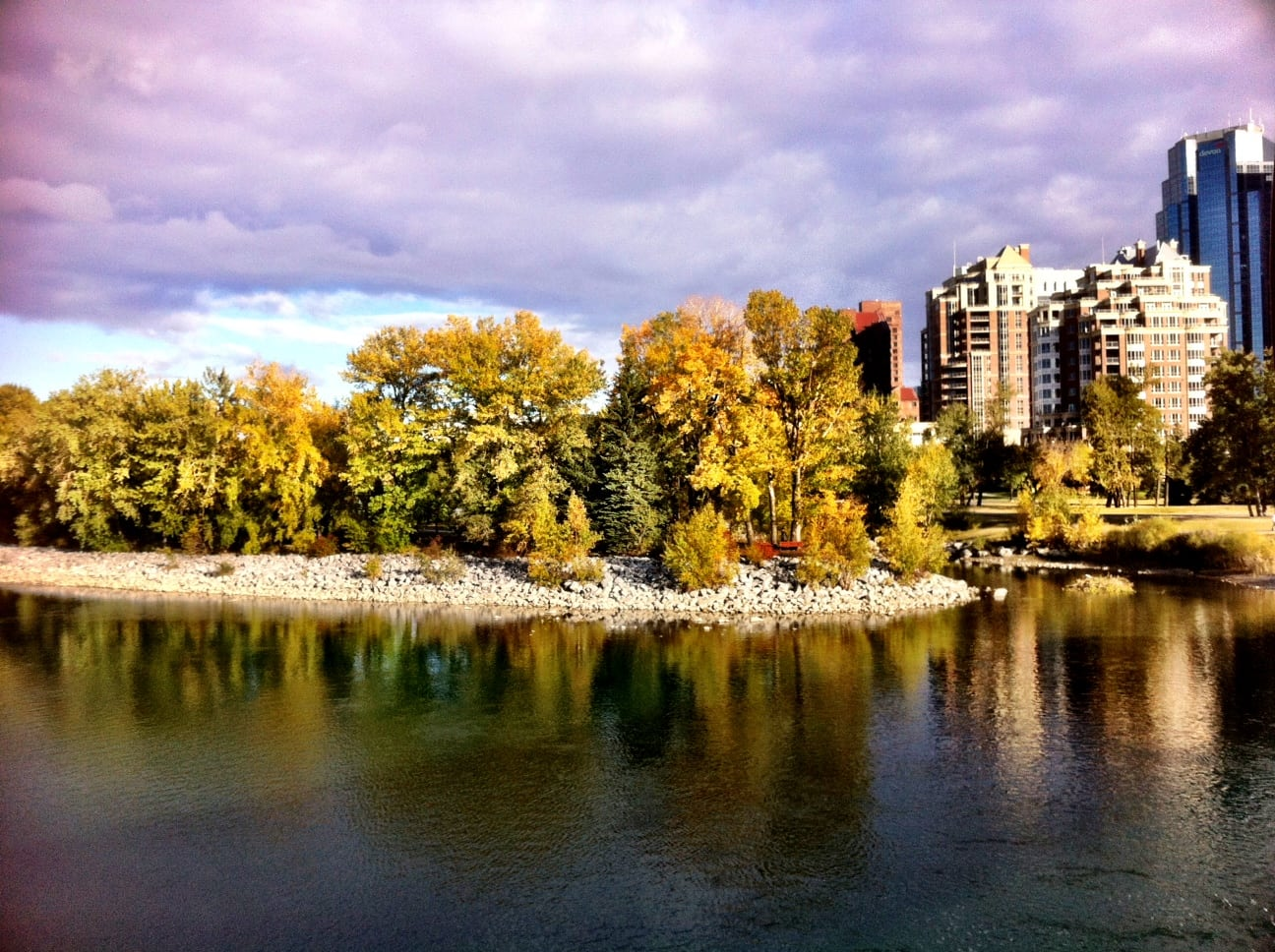 Prince's Island Park in downtown Calgary
