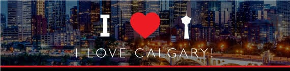 i love calgary downtown skyline banner