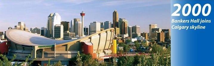 Calgary Skyline History 2000