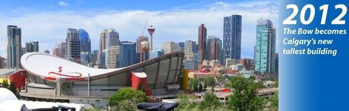 Calgary Skyline History 2012