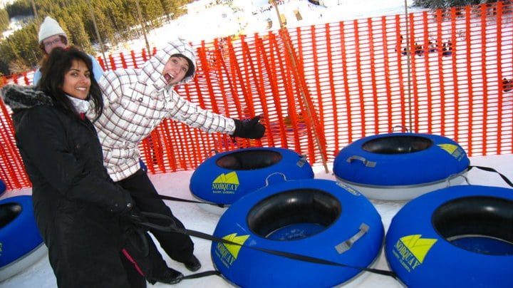 Snow Tubing at Mt. Norquay