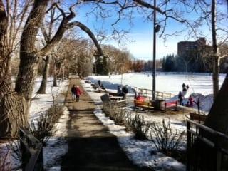 Bowness Park Calgary Parks Walk Lagoon Area