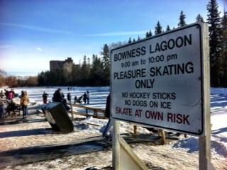 Bowness Park Calgary Lagoon Skating