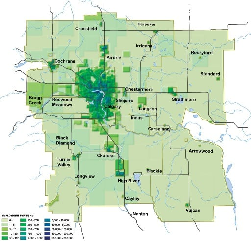 Calgary employment density 2006