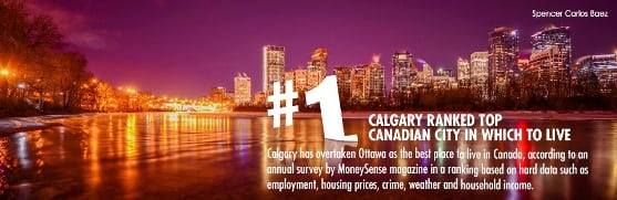 Calgary the Best Place to Live in Canada