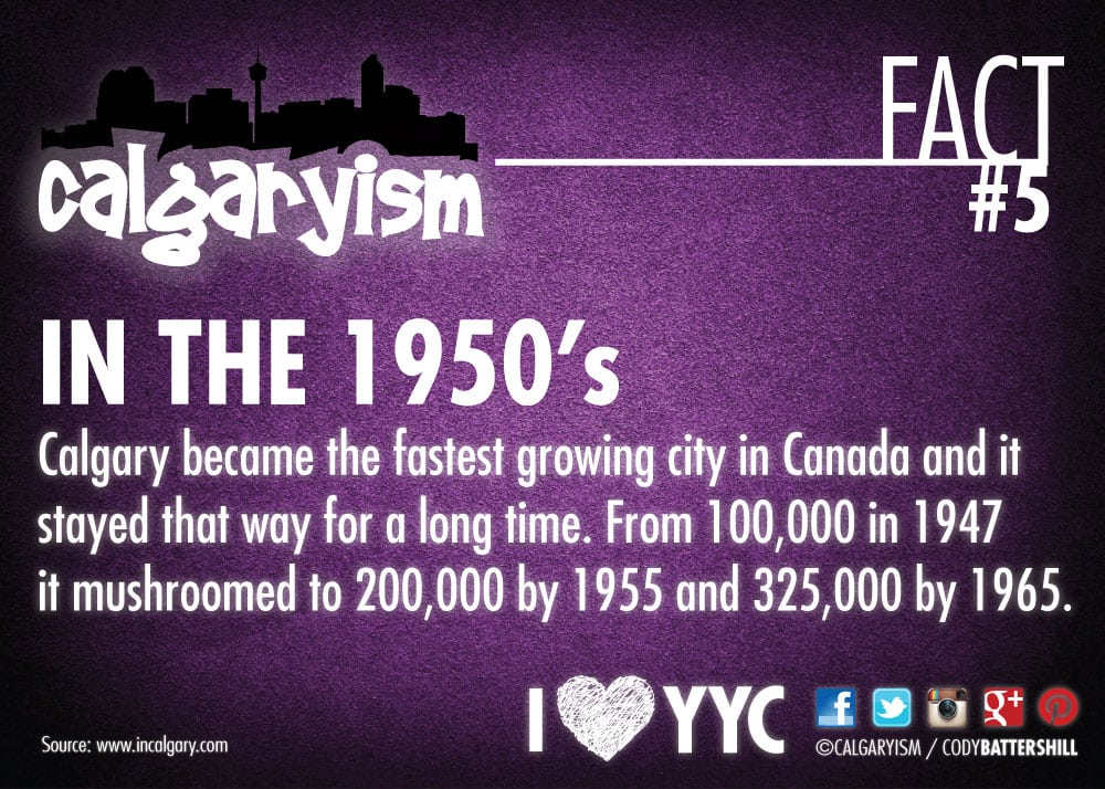 Calgary Population Growth Calgary Population Boom Infographic