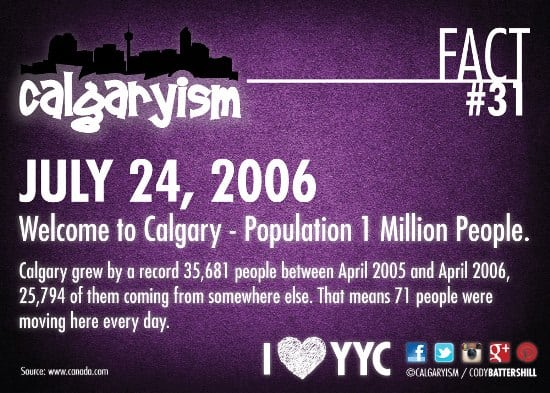 Population Growth Calgary April 2005 - 2006 Record Setting Year