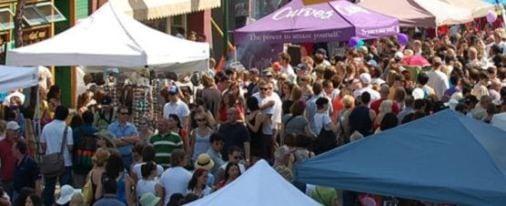 Lilac Festival Calgary Streetscape