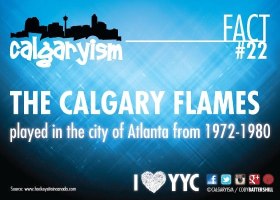 Atlanta Flames Calgary Flames Fact #22
