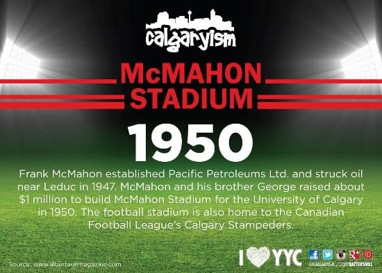 Calgary Landmarks McMahon Stadium