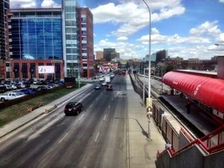 Maceod Trail Bridge 17th Avenue Calgary LRT Station