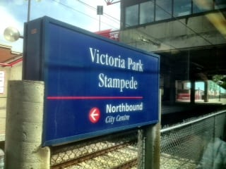 Victoria Park LRT Station Stampede Grounds Calgary