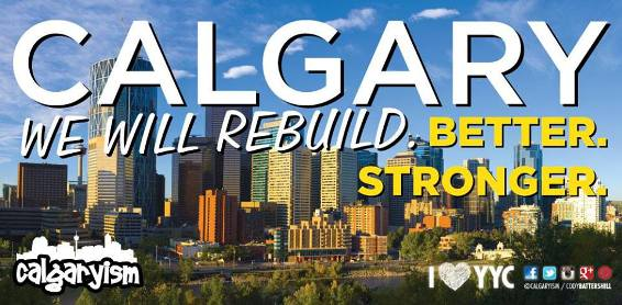 Calgaryism Floods Graphic We Will Rebuild