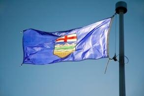 Alberta Flag Wind Sunny Day