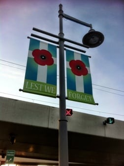Memorial Drive Calgary - Poppy Lest We Forget