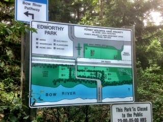 Edworthy Park sign Calgary Parks