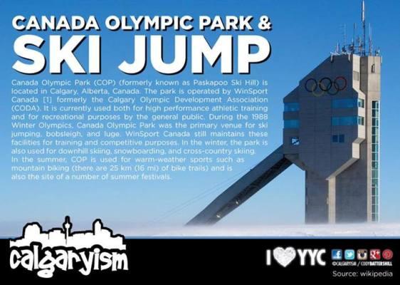 Calgary Landmarks Canada Olympic Park Ski Jumps