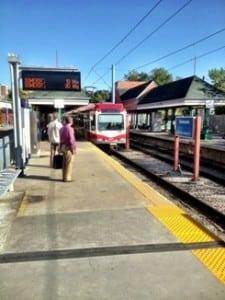 Calgary Public Transportation LRT Station Sunnyside