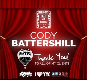 REMAX Calgary Realtor Hall of Fame Cody Battershill
