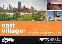 Calgary East Village Infographic